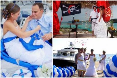 Выкуп невесты в морском стиле