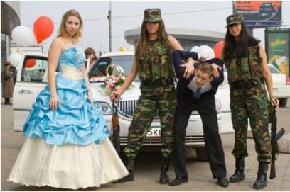 Выкуп невесты в стиле армии