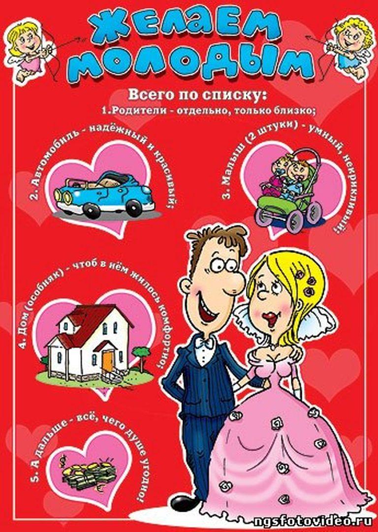 Открытка плакат на свадьбу