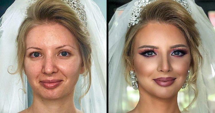 Макияж на свадьбу До и После: 100 красивых и стильных фото перевоплощений с помощью мейкапа для невесты
