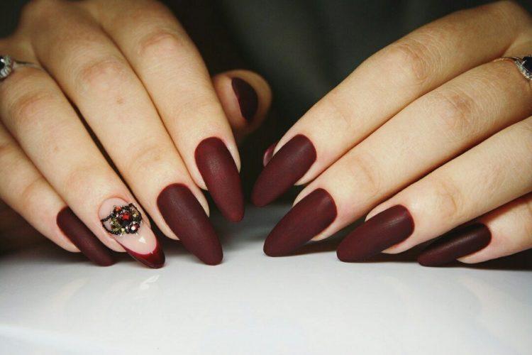 Ногти цвета марсала: 100 красивых и стильных фото новинок для невесты