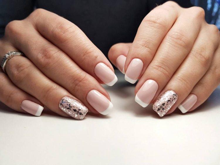 Свадебный белый френч на ногтях: 100 красивых и стильных фото новинок для невесты