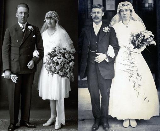 Оригинальная свадьба 20-х годов